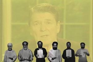 """Hostage: The Bachar Tapes"".  Av Walid Raad."