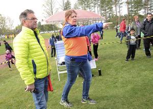 I startområdet fanns Kåre Einarsson och Åsa Lindkvist som såg till att allt fungerade som det skulle.