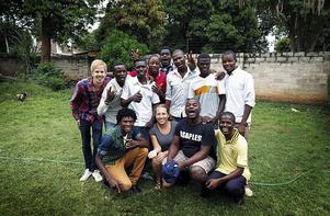 Marcus och coacherna i Zambia.
