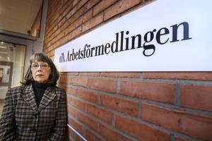 Marie-Louise Ek, Arbetsförmedlingschef i Sundsvall, tror att kontoret i Sundsvall sitter säkert.