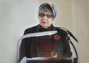 Predikan. Ann-Britt Grünevald höll en predikan i anslutning till Internationella kvinnodagen.