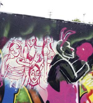 Graffitiväggen i Gävle, en dag i maj.