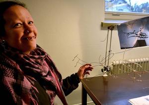 Tanja Broman har valt att kopiera ett Jones-verk som finns i Lund.