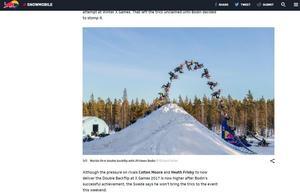 Daniel Bodin sätter världens första double backflip på snöskoter.