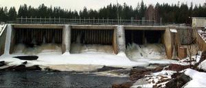 Arkivbil. Kvarnforsen kraftverkt ägs Härjeåns Kraft.