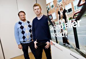 Lars Beckman, M, och Henrik Petrén presenterade RBU:s rapport om läget i skolan