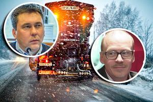 Magnus Andersson (C) och Thomas Andersson (C) kräver i en motion att vägsaltet ska bort på vägarna i Östersunds kommun.
