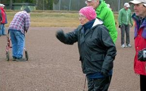 Ingrid Norling är i kastartagen. Inget fel på tekniken! Foto: Per Malmberg/DT