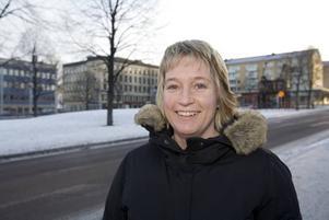 Narita Eriksson skickade en bild till familjen hemma i Gävle