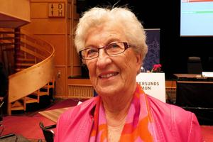 Marianne Stålberg (S) är med sina 81 år ålderkvinna i Östersunds kommunfullmäktige.