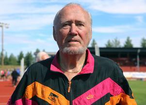 90-åringen Valter Ulander tävlade i helgen på veteran-SM i Söderhamn.