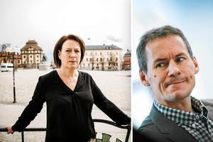 Kommunstyrelsens ordförande Susanne Norberg (S) och avgående kommundirektören Dan Nygren, snart landsbygdsprojektledare.