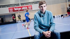 Kevin Haglund, jättelöfte i Salem/Telge som gjorde fem mål med juniorlaget i helgen.