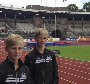 Bröderna Viktor och William Thor, Strands IF, slog bägge till med nya personbästa.