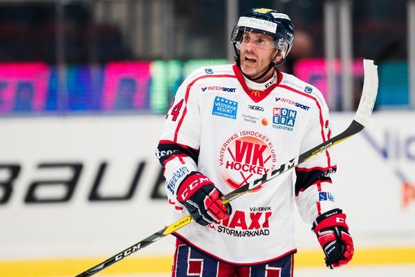 Conny Strömberg i Västerviks tröja. Foto: Andreas L Eriksson/Bildbyrån.