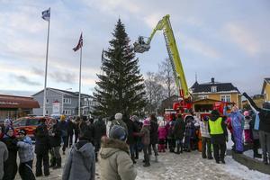 Hela torget fylldes av elever från Norra skolan.