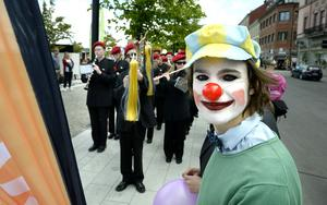 Edvin Bergklint gick först i paraden.