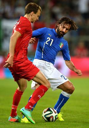 Andrea Pirlo, New York City. Italien–Luxemburg, träningsmatch 4 juni 2014, 1–1.         Gerson om Pirlo: