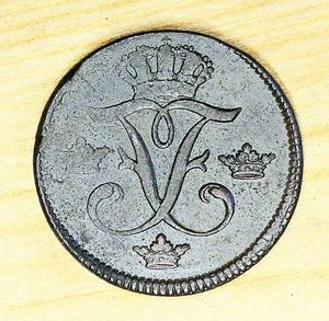 Sverige Fredrik I 1 öre S.M 1749