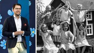 Sverigedemokraterna har försökt marknadsföra sig genom Astrid Lindgren. Men författarinnan hade helt andra åsikter än partiet och SD:s idealsamhälle är allt annat än fritt och säkert, det menar Kjell Eriksson. Bilden är ett montage. Foto: Pressens bild/TT.