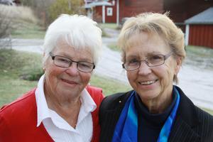 Maj-Britt Persson och Birgitta Eriksson ser fram emot jubileumsfirande kommande helg.