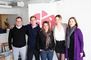 Gunnar Sandberg, Kalle Olsson, Anna-Caren Sätherberg, Kata Nilsson och Lena Bäckelin.