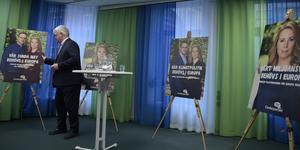 Fram till valdagen 26 maj kommer partierna att göra sitt bästa för att informera om vad de vill göra i EU-parlamentet, inte minst i klimatfrågan.Bilden är från när Centerpartiet presenterade sina prioriterade frågor inför valet. Foto: Janerik Henriksson, TT.