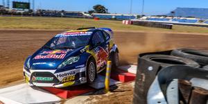 Oliver Eriksson drabbades av ett elfel, men hade inför tävlingen i Sydafrika en så stor ledning att han trots missödet kunde säkra totalsegern i utvecklingsklassen RX2. Foto: RX2