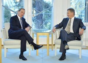 Stefan Löfven besöker president Sauli Niinistö på Talludden 2014.