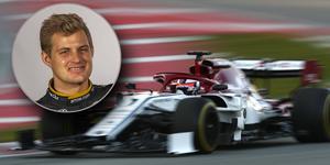 Kimi Räikkönen körde första testdagen i den nya Alfa Rome Racing C38. Teamets tredjeförare Marcus Ericsson följde F1-testerna från USA. Foto: Manu Fernandez/TT