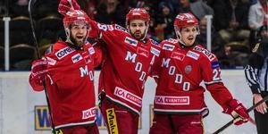 Två försäsongsmatcher med Modo går att se på Allehanda. Bild: Jonas Forsberg/Bildbyrån.