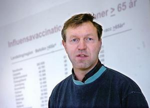 Foto: Kjell Jansson.Länets smittskyddsläkare Anders Lindblom konstaterar att Dalarna förskonats från mässlingsutbrott.