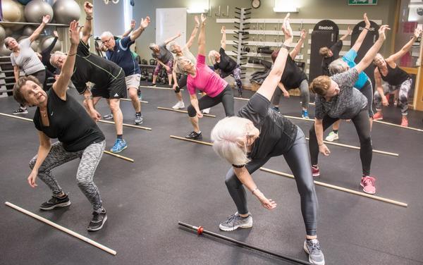 ... balans och rörlighet är en viktig del av träningen.