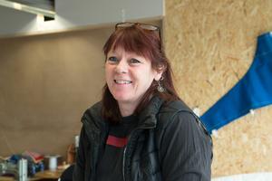 Anneli Bergfeldt driver ett segelmakeri i Nynäshamn.