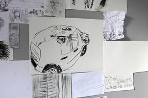 Resultatet av helgens teckningsövningar visas i galleriet. Bild: Kristian Ekenberg