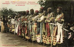 Amasonveteraner samlas 1908 för årlig minnesstund över kriget mot Frankrike. Foto:  Edmond Fortier