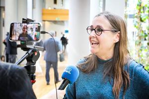 Bodil Valero intervjuas av den europeiska nyhetskanalen Euronews.