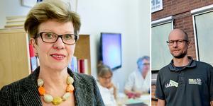 Marju Dahmoun, länsverksamhetschef för kvinnosjukvården i Region Västernorrland och Fredrik Alsén, verksamhetschef på Sidsjö vårdcentral