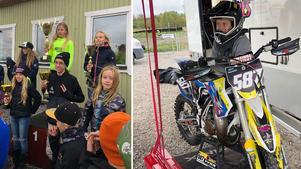 Tyra Bäckström, Moa Hammarbom och Tilda Jangbåge har kört riktigt bra i Mälarfräsen. Foto: Privat
