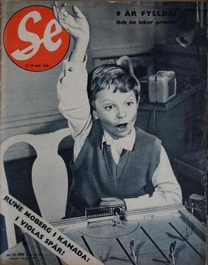 Tidningen SE:s första sida i april 1955.