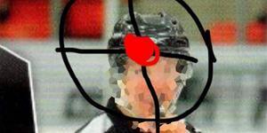 Bilden som Södertäljesupportern delade på Facebook. Bilden är hämtad ur polisens förundersökning och maskad av LT.
