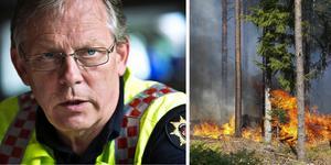 Lars-Göran Uddholm, brandchef på Södertörns brandförsvarsförbund var räddningsledare under den stora skogsbranden i Västmanland år 2014.