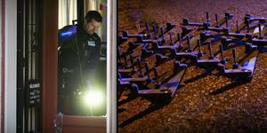 Fotomontage: Mikael Hellsten/TT. Vittnen berättar för tidningen om utlagda spikmattor vid morgonens guldkupp mot Lindés Ur & Guld. (Bilden på spikmattan är från ett annat tillfälle).