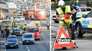 Dödsolyckorna har varit ovanligt många på de svenska vägarna under första halvåret 2018. Bild: Fredrik Sandberg/TT, Johan Nilsson/TT.