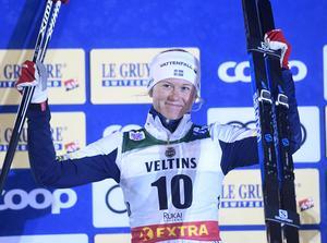 I fjol kom Maja Dahlqvist tvåa i premiärsprinten i Ruka. Kan hon matcha det på fredag? Foto: Fredrik Sandberg/TT