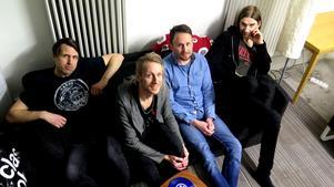 Anders Gustavsson, David Lehnberg, Gunnar Forsman och Joakim Eriksson i Leiah.