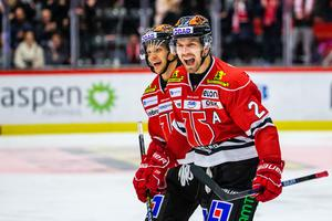 Kristian Näkyvä och Rasmus Rissanen tränade inte på is på torsdagen. Bild: Johan Bernström/Bildbyrån