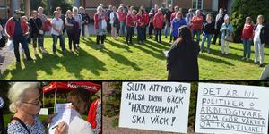 Undersköterskeupproret i Borlänge pågick i en timme på torsdagsförmiddagen.