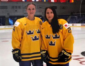 Sabina Küller och Fanny Rask. Duon som fixade Sveriges första mål i årets OS-turnering. Sabina passade, Fanny satte dit 1-0 mot Japan.