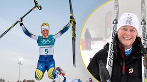 Maria Åslin, affärsområdeschef för kommunala Näringslivsbolaget är stolt över att Charlotte Kalla är ambassadör för Sundsvall.Foto: Montage, Bildbyrån/ST